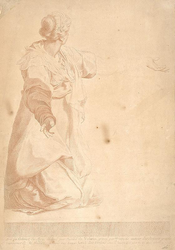 Stredoeurópsky grafik zo 17. storočia - Štúdia ženy