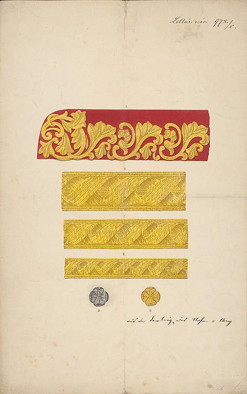 Nemecký grafik z 19. storočia – Návrh na epolety