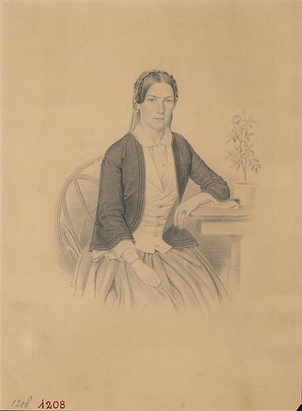 Stredoeurópsky autor z konca 19. storočia – Portrét ženy-p. Edlová