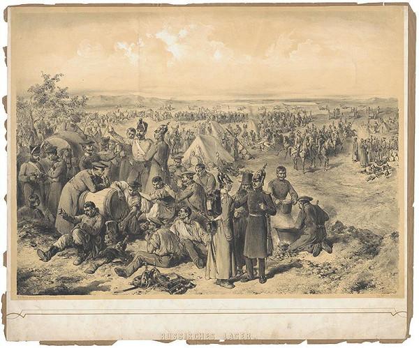 August von Pettenkofen - Ruský tábor