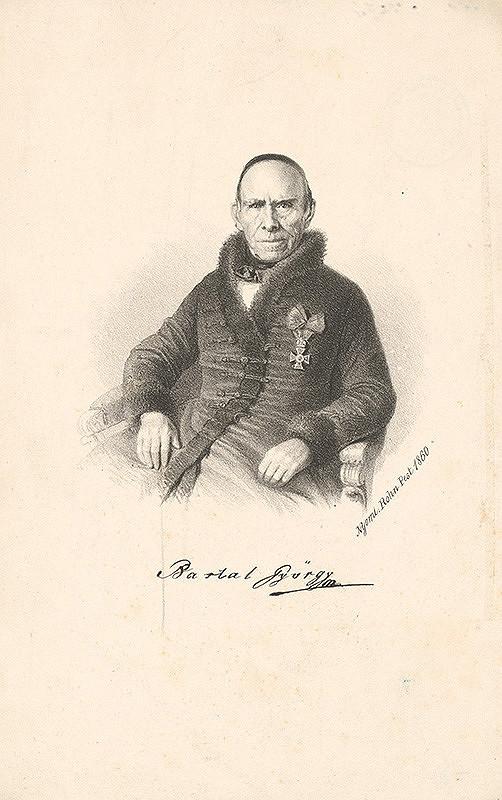 Maďarský grafik z 19. storočia - Portrét Juraja Bartala