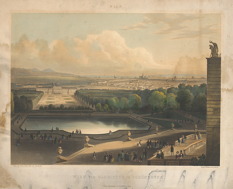 Franz Josef Sandmann – Pohľad na Viedeň, 1850 – 1856, Galéria mesta Bratislavy
