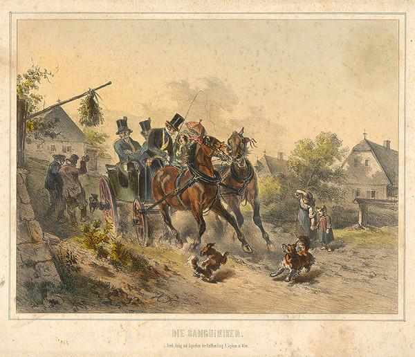 Stredoeurópsky grafik z 19. storočia - Sangvinici