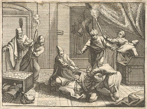 Stredoeurópsky grafik z 18. storočia – Prepadnutie