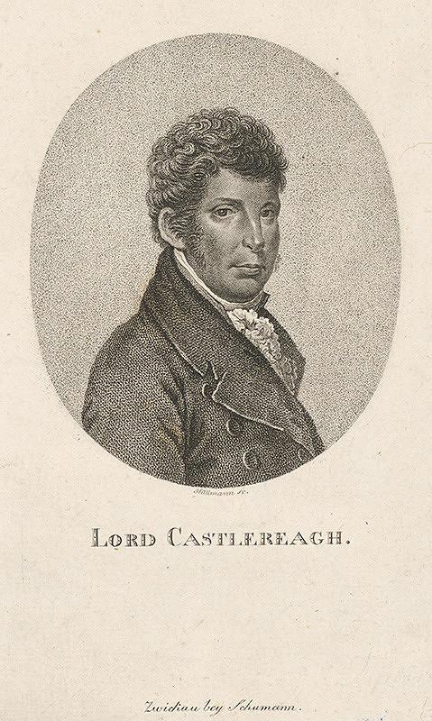 Gottlieb Wilhelm Hüllmann - Portrét lorda Castlereagh