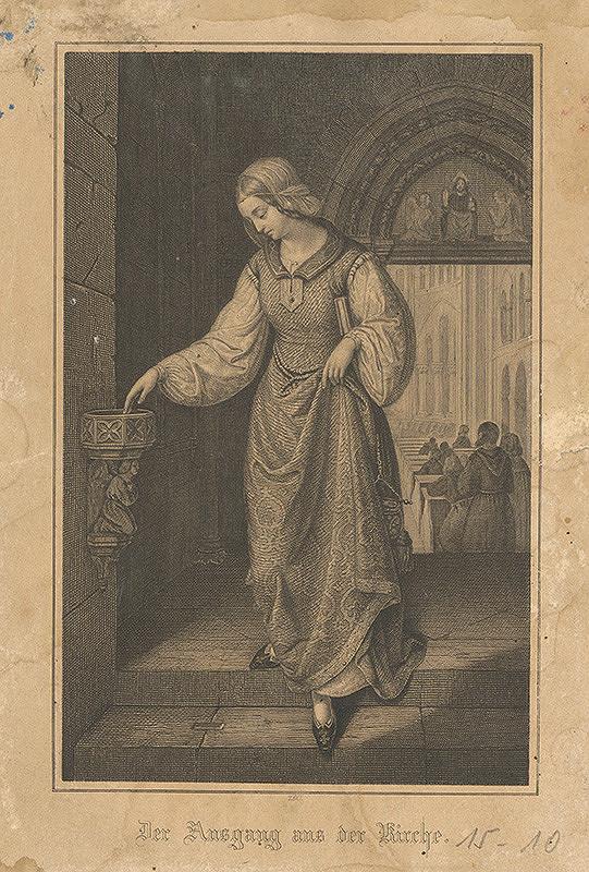 Nemecký grafik z 19. storočia – Z kostola