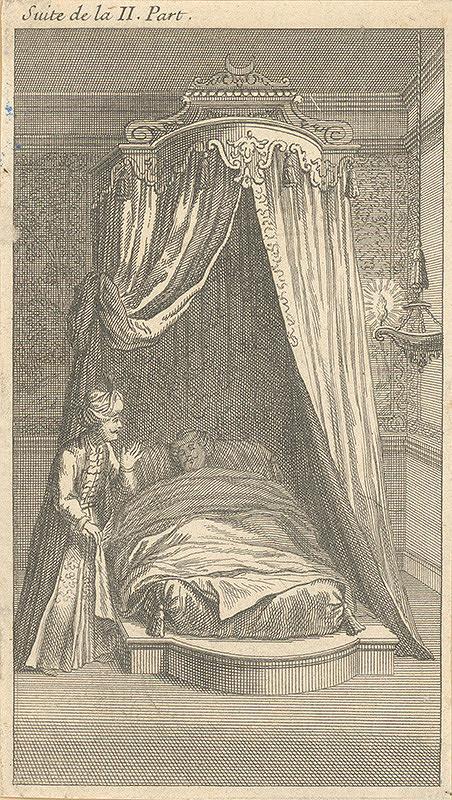 Stredoeurópsky grafik z 18. storočia - Chorý sultán