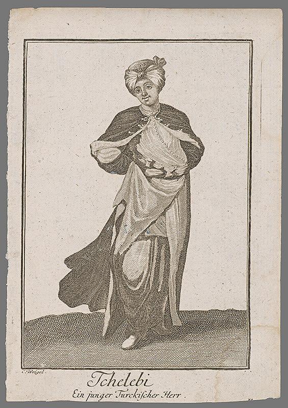 Nemecký grafik z 19. storočia – Mladý Turek