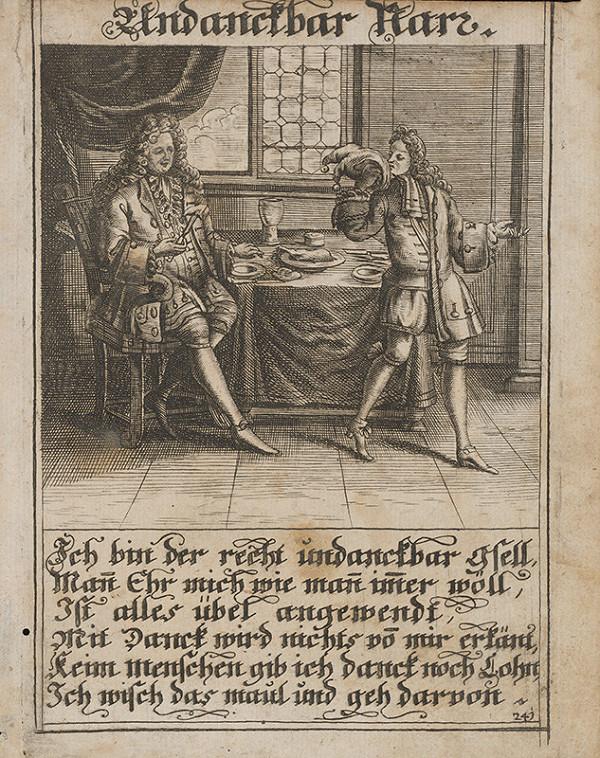 Nemecký grafik z 1. polovice 18. storočia - Nevďačný blázon