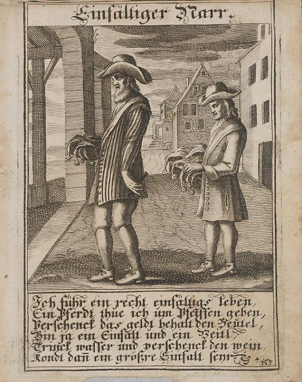 Nemecký grafik z 1. polovice 18. storočia - Hlúpy blázon