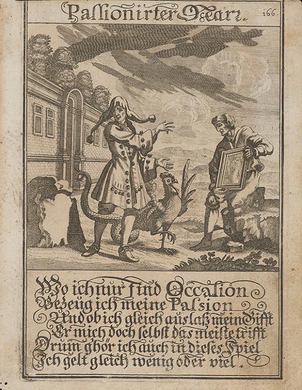 Nemecký grafik z 1. polovice 18. storočia - Vášnivý blázon