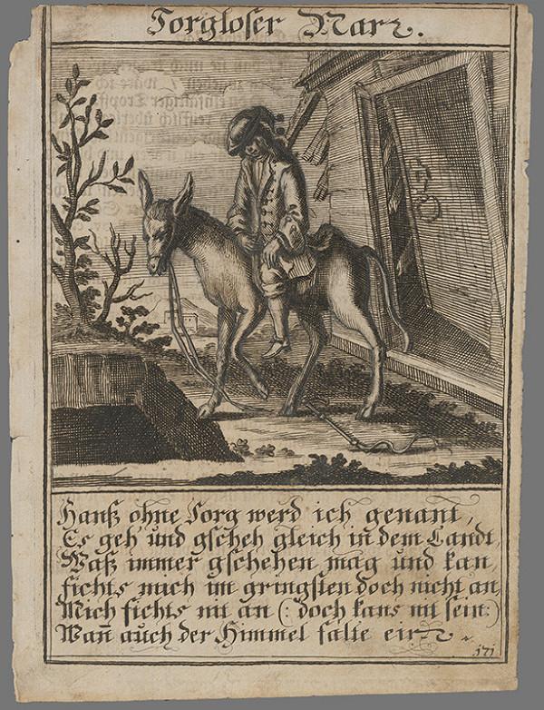 Nemecký grafik z 1. polovice 18. storočia – Bezstarostný blázon