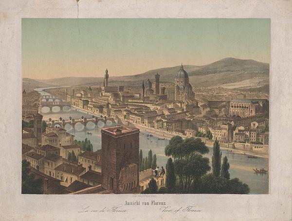 Nemecký grafik z 19. storočia – Pohľad na Florenciu