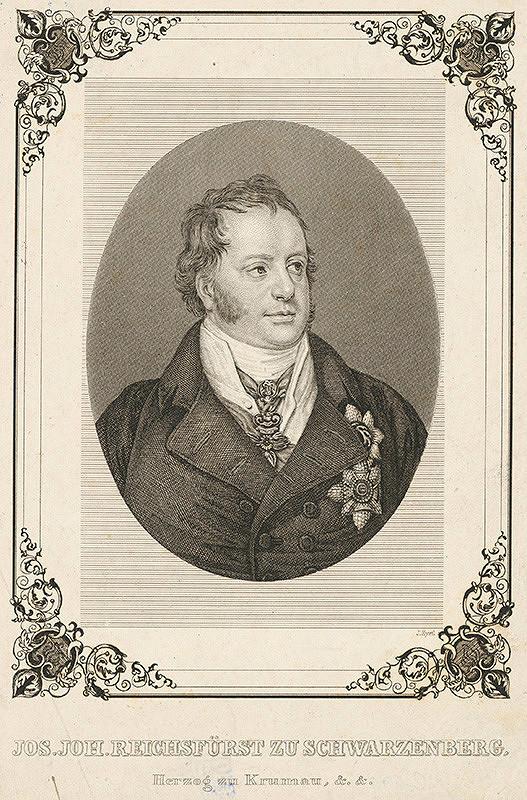 Jakob Hyrtl – Portrét Jozefa Jána Schwarzenberga