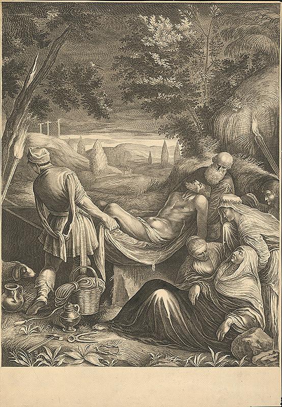 Jacopo Bassano, Jeremias Falck - Ukladanie do hrobu (12)