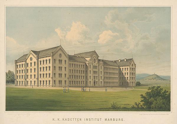 Nemecký grafik z 19. storočia – Vojenký inštitút v Marburgu