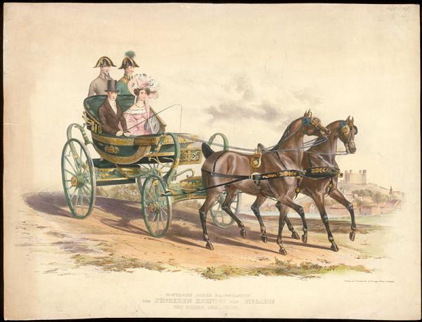 Rakúsky grafik z 19. storočia – Kráľ Ferdinand V. Uhorský a Mária Anna