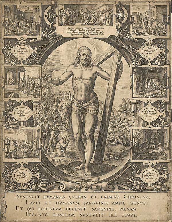 Hendrick Goltzius, Carel Collaert – Kristus s krížom