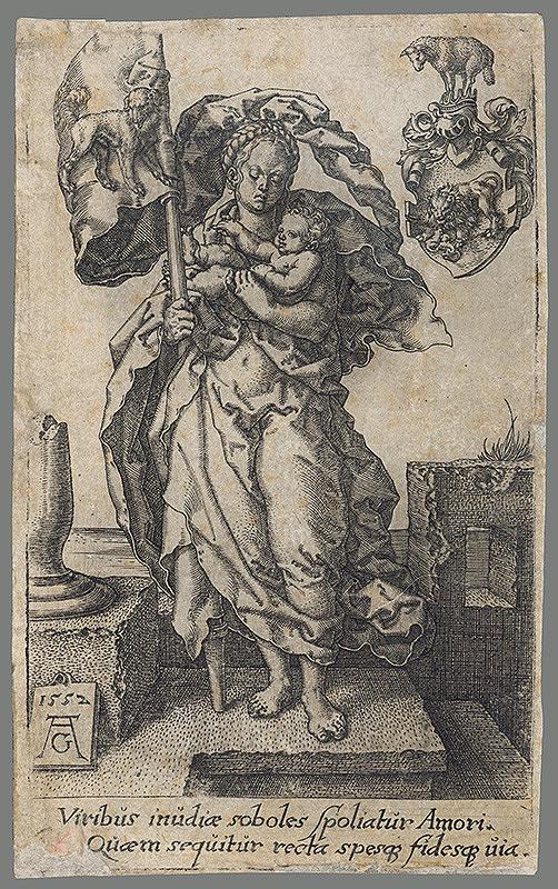 Heinrich Aldegrever – Žena s dieťaťom