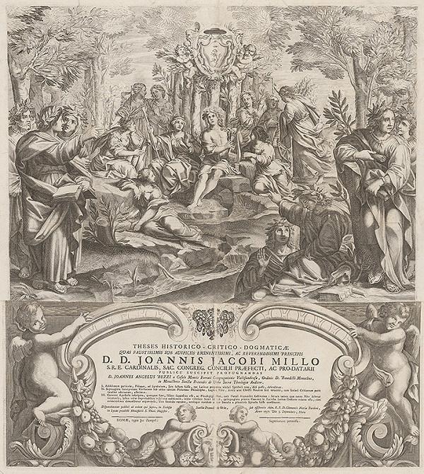 Stredoeurópsky grafik z 18. storočia – Apollo s múzami