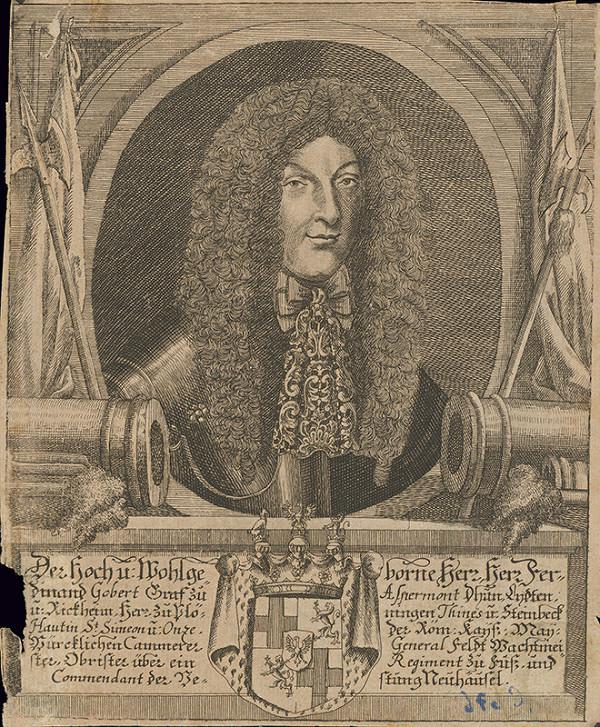 Stredoeurópsky grafik z 1. polovice 18. storočia - Podobizeň grófa Ferdinanda Aspermonta