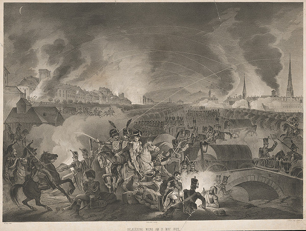 August Gerrasch, Johann Baptist Hoechle – Obliehanie Viedne 11.mája 1809