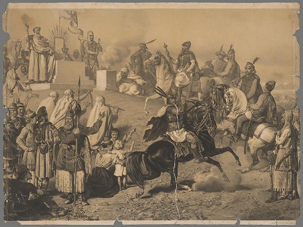 Stredoeurópsky grafik z 2. polovice 19. storočia - Alegória bratstva národov