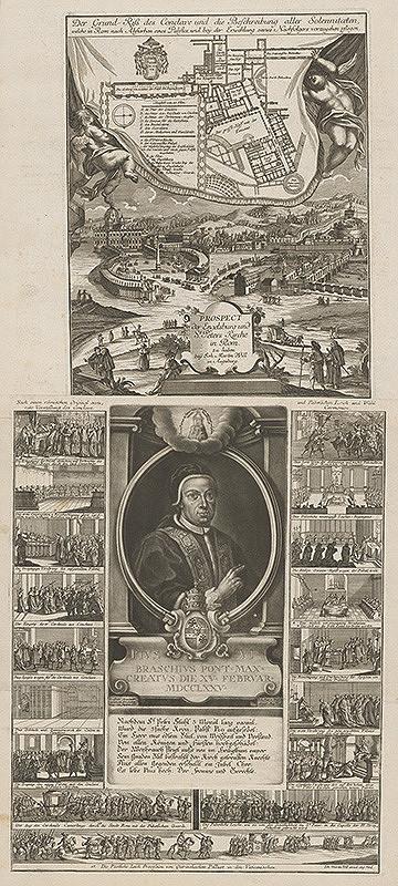Nemecký grafik z 18. storočia – Pamätný list na zvolenie pápeža Pia VI.