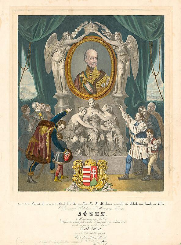 Franz Eybl, Peter Johann Nepomuk Geiger, August von Pettenkofen – Alegória uhorského palatína arcikniežaťa Jozefa