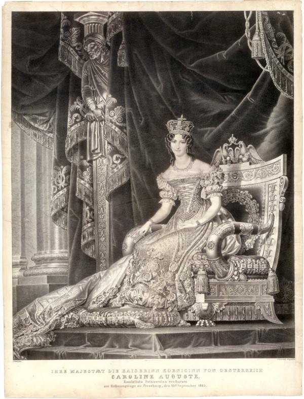 C. Sales, Joseph Lanzedelli ml. – Rakúska kráľovná Karolína Augusta