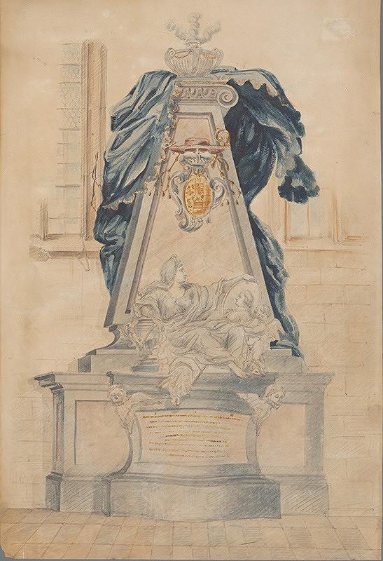 Stredoeurópsky grafik z 18. storočia – Návrh na náhrobok Kristiana Augusta
