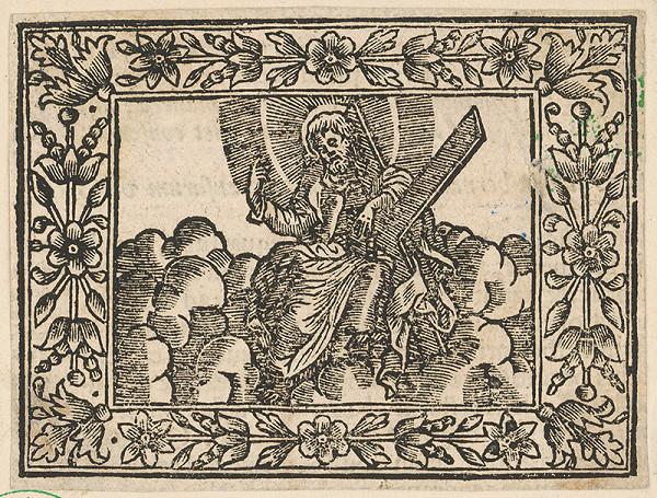Stredoeurópsky grafik z 18. storočia – Vstúpenie Krista na nebesá