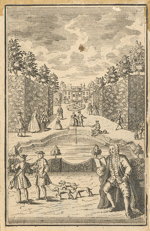 Francúzsky grafik z 18. storočia – Park