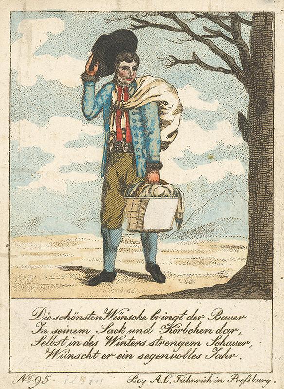 Stredoeurópsky grafik z 19. storočia - Pocestný