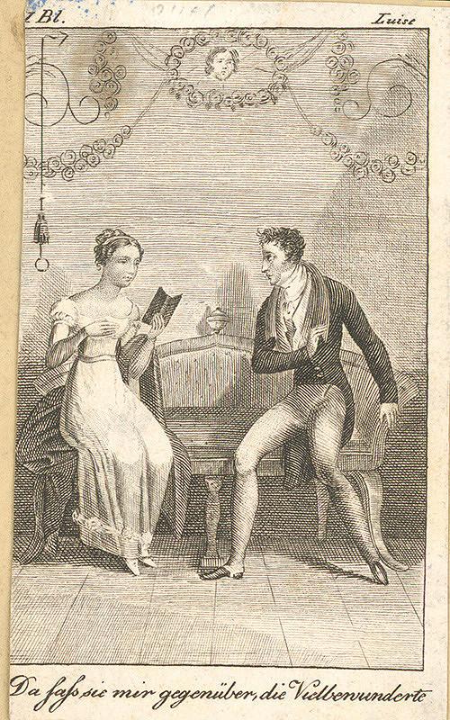 Nemecký grafik z 19. storočia – Lujza s milým