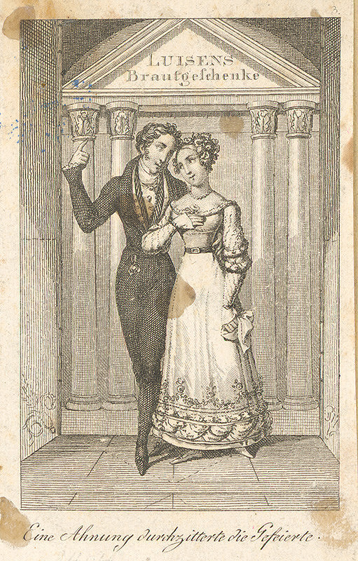 Nemecký grafik z 19. storočia – Svadobné dary Lujzine