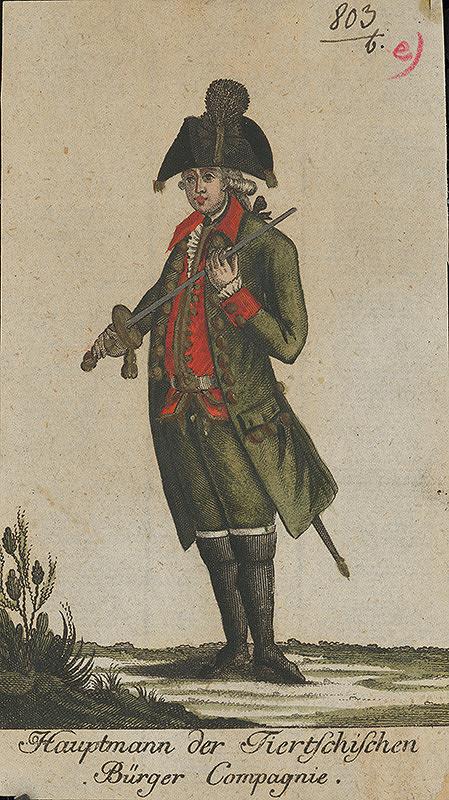 Stredoeurópsky grafik z 18. storočia – Veliteľ vojenského pluku