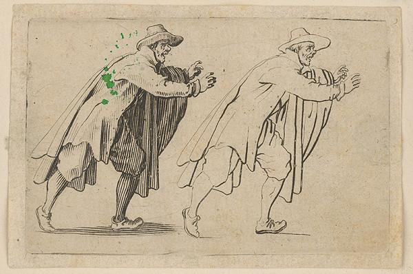 Jacques Callot – Muž nahnutý doprava