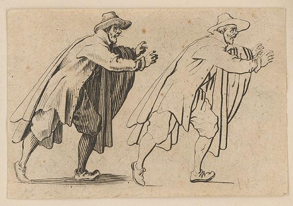 Stredoeurópsky grafik z 18. storočia – Muž nahnutý doprava