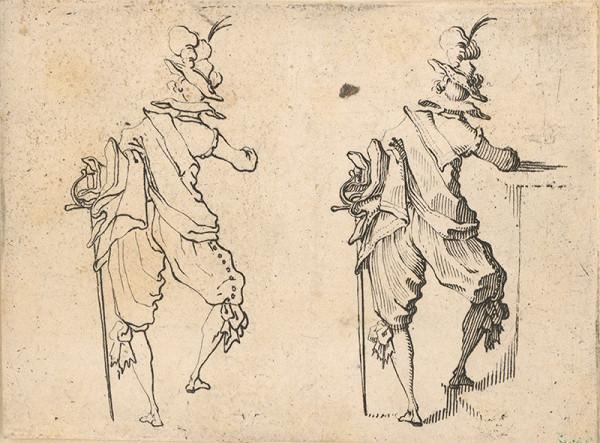 Jacques Callot – Kostýmový návrh III. (Rytier)