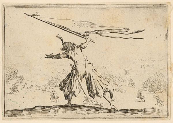 Jacques Callot – Vojak so zástavou