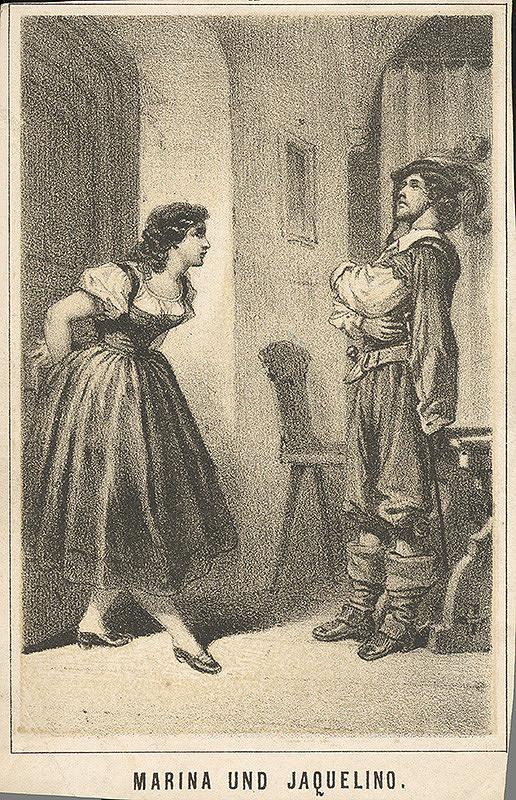 Nemecký grafik z 19. storočia – Marína a Jacquelíno