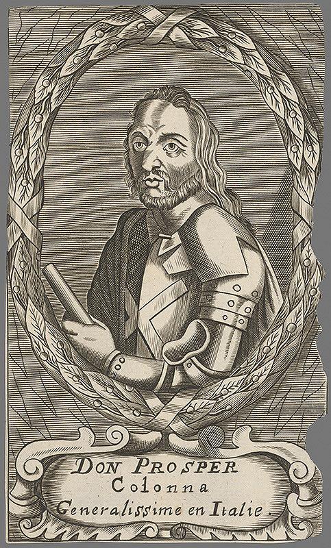 Stredoeurópsky grafik z 18. storočia – Don prosper Colonna, generalissimus v Itálii