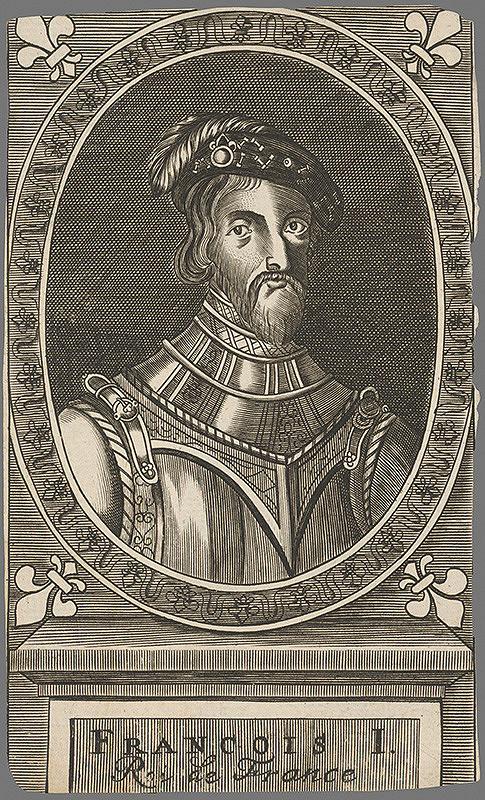 Stredoeurópsky grafik z 19. storočia - Portrét francúzskeho kráľa Františka I.