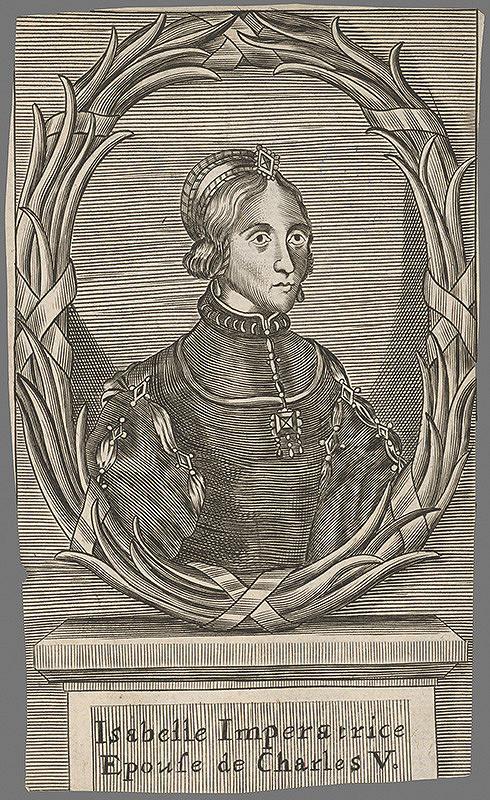 Stredoeurópsky grafik z 18. storočia – Portrét Isabelly von Portugal