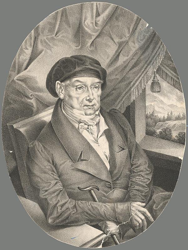 Nemecký grafik z 19. storočia – Portrét Henricha Kleina
