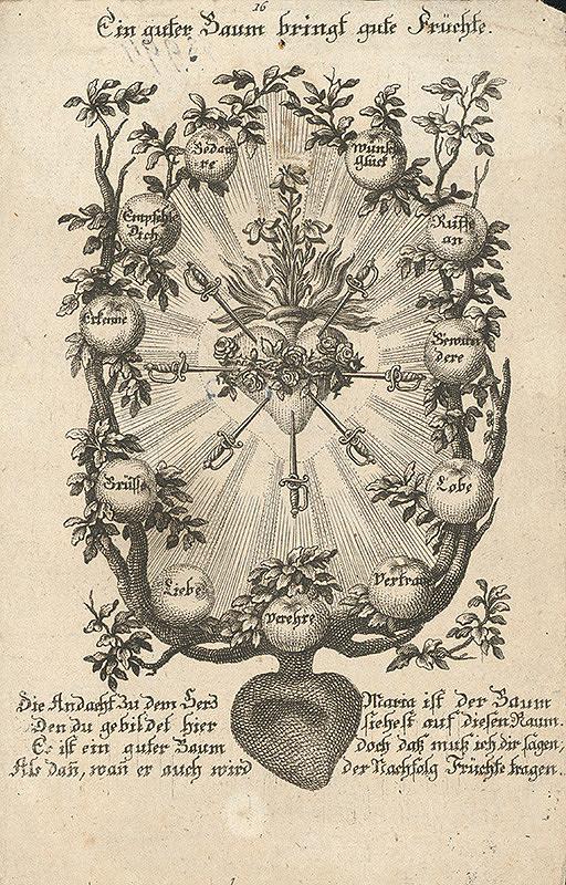 Nemecký grafik z 18. storočia – Pamätný list