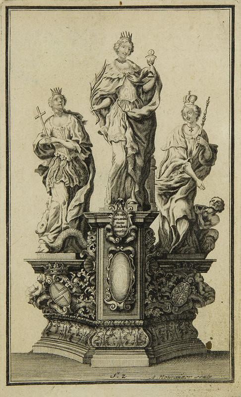 Augustin Neurautter – Svätá Barbora, svätá Margaréta a svätá Alžbeta