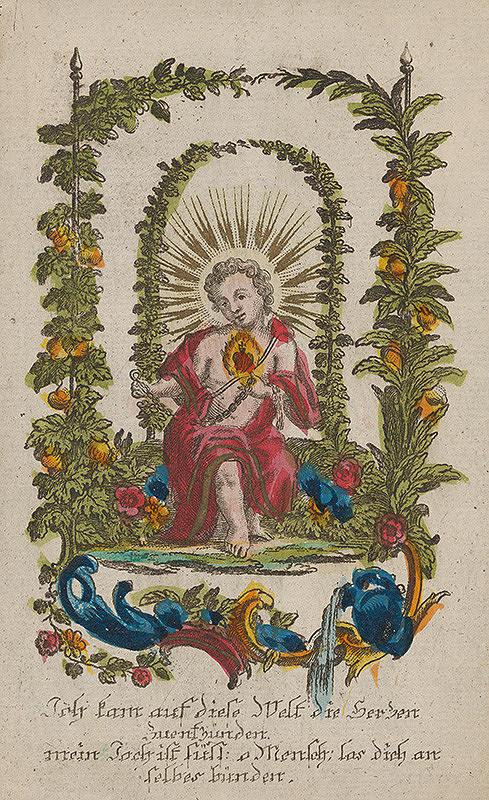 Nemecký grafik z 18. storočia - Mladý Ježiš