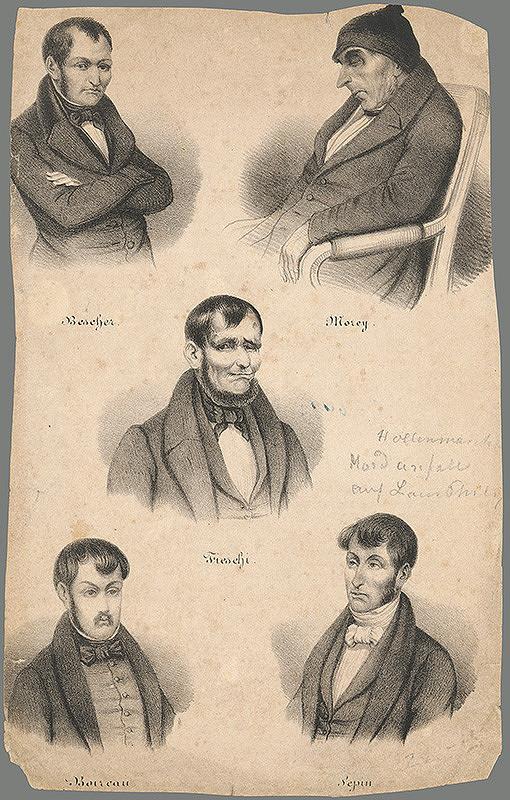 Nemecký grafik z 19. storočia - Portréty mužov